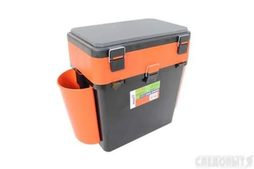 Ящик для зимней рыбалки FishBox Helios с навесными карманами 19 л оранжевый MB-BU-W04