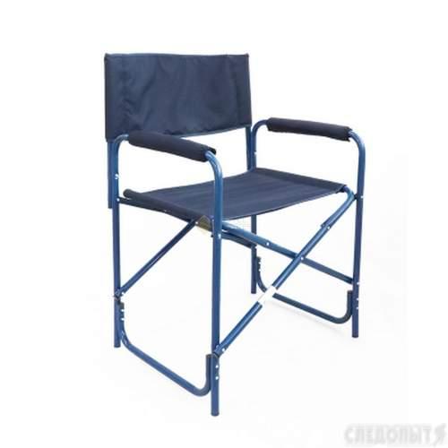 Кресло складное СЛЕДОПЫТ 585х450х825 мм сталь 20 мм синий PF-FOR-SK03