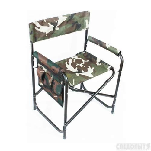 Кресло складное СЛЕДОПЫТ с карманом на подлокотнике 585х450х825 мм сталь PF-FOR-SK02