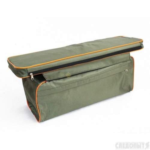 Накладка на сиденье СЛЕДОПЫТ мягкая с сумкой 95 см цв. хаки PF-PS-11