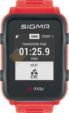 Часы спортивные Sigma ID.TRI NEON RED SET