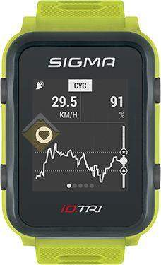 Часы спортивные Sigma ID.TRI NEON GREEN BASIC