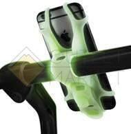 Держатель для смартфона BONE силиконовый на руль универсальный 4.0-6.0 BIKE TIE люминесцентный 07-150014