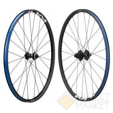 Комплект колес Shimano MT501-B-27.5 под оси F:15 мм/R:12 мм C.Lock OLD:110/148 мм черн.