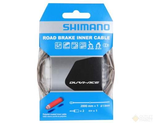 Трос тормозной Shimano полимерн. для шоссе 1.6x2000 мм с концевиками для оплетки 2шт. Для BC-9000