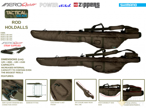 Чехол для удилищ Shimano Tactical 3 Rod 12ft Holdall