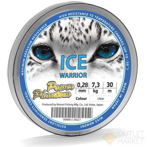 Леска Power Phantom Ice Warrior LIGHT BLUE 30m