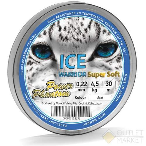 Леска Power Phantom Ice Warrior SUPER SOFT CLEAR 30m