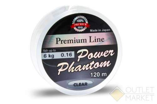 Леска Power Phantom Premium Line CLEAR 120m