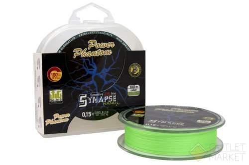 Шнур Power Phantom Synapse NANO PE 100m fluo-green