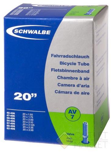Камера Schwalbe 20 (40/62x406) AV7 40мм EK AGV