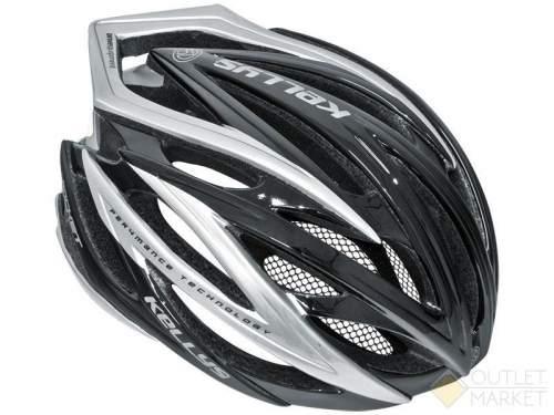 Шлем велосипедный Kellys rocket цвет: чёрный/серебристый размер: s/m (56-58cm)