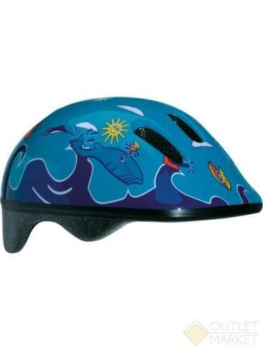 Детский велосипедный шлем Вellelli цвет: синий/голубой рисунок: дельфины размер: м (52-57cm)