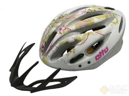 Шлем велосипедный Etto kolibri цвет: белый размер: s/m (54-57см)