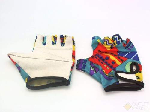 Велосипедные перчатки TBS без пальцев. материал: белая кожа с наполнителем, лайкра. размер: s