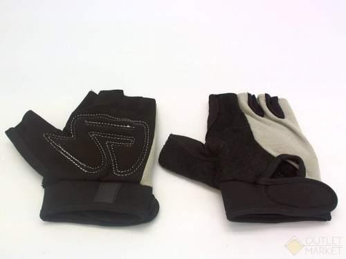 Велосипедные перчатки TBS без пальцев. материал: сетчатый спандекс/нейлон/ искусственная кожа. размер: s. цвет: черный/серый.