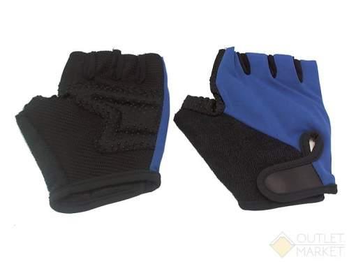Велосипедные перчатки TBS h-89. материал: нейлон/ладонь с кевларовой нитью. цвет: чёрный/синий