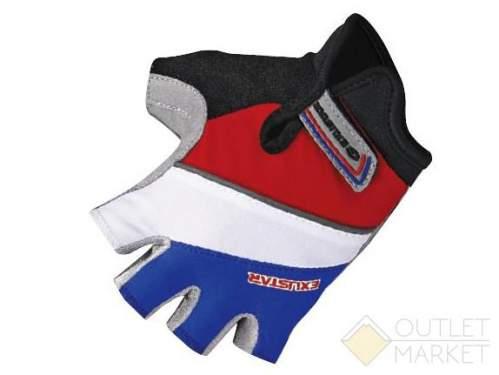 Перчатки детские, вентилируемая иск.кожа с амортизирующими вставками/ спандекс, теплопроводящие и отражающие элементы, l (7,5х11,3см), красный/белый/синий