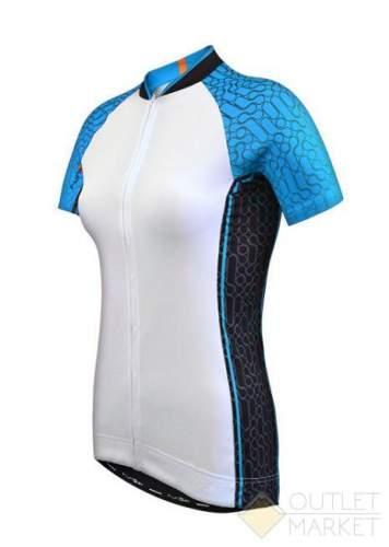 Велофутболка FUNKIER женская WJ-784 Blue бело-голубая
