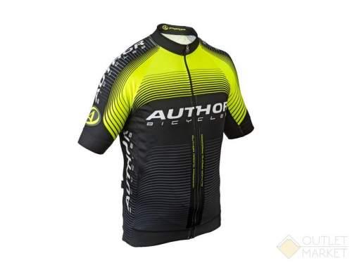 Велофутболка AUTHOR SPORT X7 ARP черно-неоново-желтая
