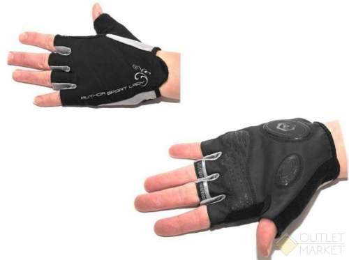 Перчатки AUTHOR Lady Sport Gel жен. черные гель/лайкра/синт.кожа с петельками