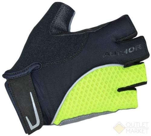 Перчатки AUTHOR Team X6 неоново-желто-черные синт. кожа/неопрен с петельками