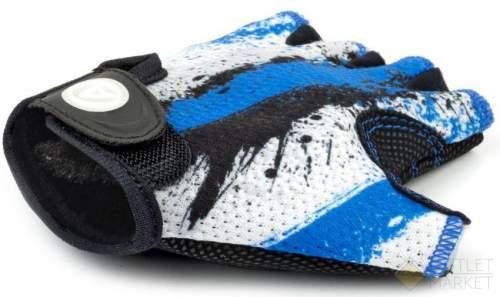 Перчатки AUTHOR подростк. X6 сине-белые замша/синт. кожа