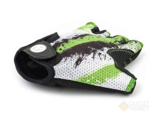 Перчатки AUTHOR подростк. X6 зелено-белые замша/синт. кожа