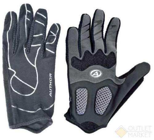 Перчатки AUTHOR длин. FFPro серо-черные облегч. дыш. гель/лайкра/синт.кожа