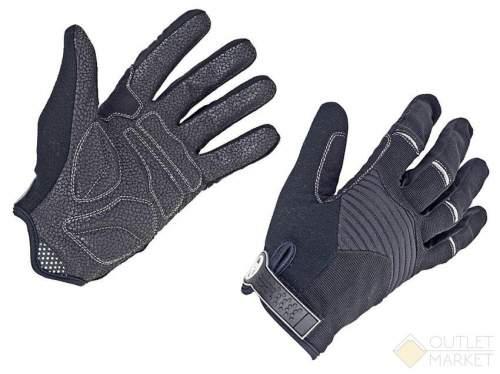 Перчатки AUTHOR длин. пальцы Men Single T облегч. дыш. гель/лайкра/кожа черно-серые