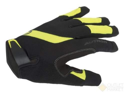 Перчатки AUTHOR длин. пальцы Men Single T X5 облегч. дыш. материал черно-неоновые