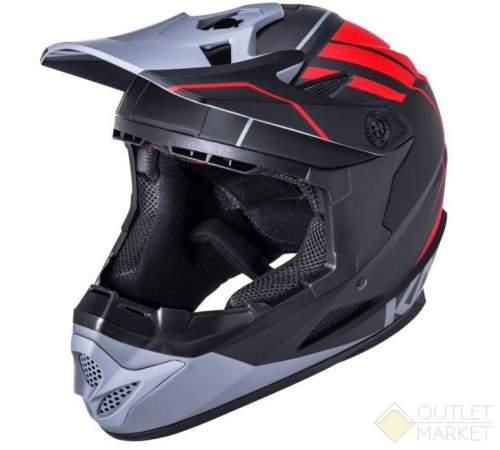 Шлем KALI Full Face DH/BMX Zoka Mat Blk/Red/Gry L 6отв. черн-красн-сер ABS