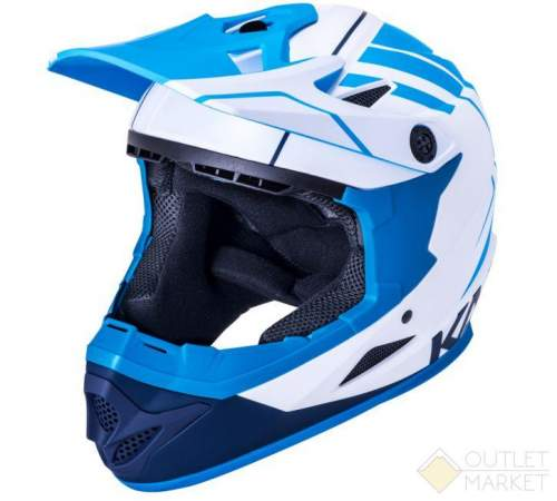 Шлем KALI Full Face DH/BMX Zoka Mat Wht/Blu/Nvy 6отв. бел-син-голуб ABS