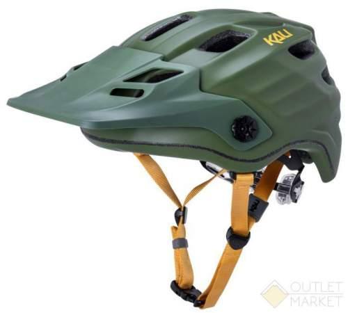 Шлем KALI ENDURO/MTB MAYA2.0 Mat Khk/Ylw 12отв. зеленый/хаки LDL