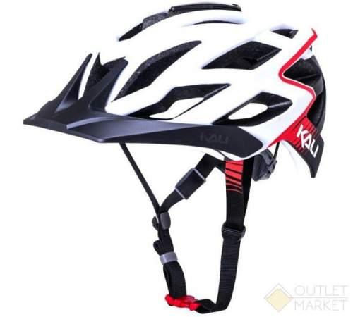 Шлем KALI ENDURO/MTB LUNATI Mat Wht/Red 25отв. с крепл. камеры бело-красный мат.
