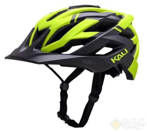 Шлем KALI ENDURO/MTB LUNATI 25отв. MatBlk/FlY с крепл. камеры черн-желт