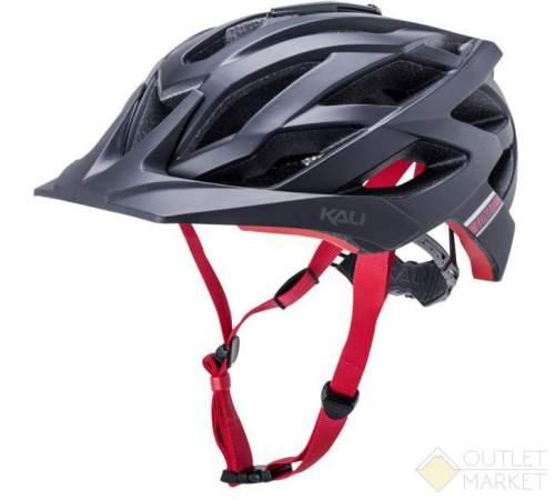 Шлем KALI ENDURO/MTB LUNATI 25отв. MatBlk/Red с крепл. камеры черн-крас