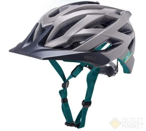 Шлем KALI ENDURO/MTB LUNATI 25отв. MatGry/Tel с крепл. камеры сер-бир
