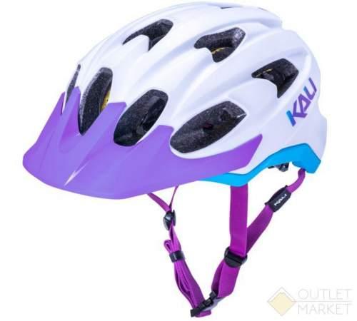 Шлем KALI TRAIL/MTB PACE 15 отв. Mat Wht/Blu/Prp бело-фиолет/голуб. LDL CF