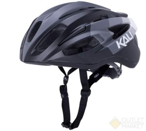 Шлем KALI ШОССЕ/ROAD THERAPY 21 отв. Blk/Gry матовый черно-серый 285г. LDL CF