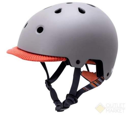 Шлем KALI URBAN/BMX SAHA Mat Gry/Org 11отв. серый мат. с оранж. текстил.козырьком