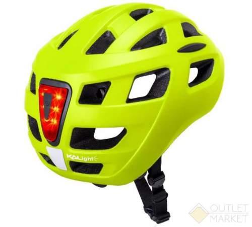 Шлем KALI URBAN/CITY/MTB с фонариком CENTRAL Sld Mat Fluo Ylw 19отв. неоновый мат.