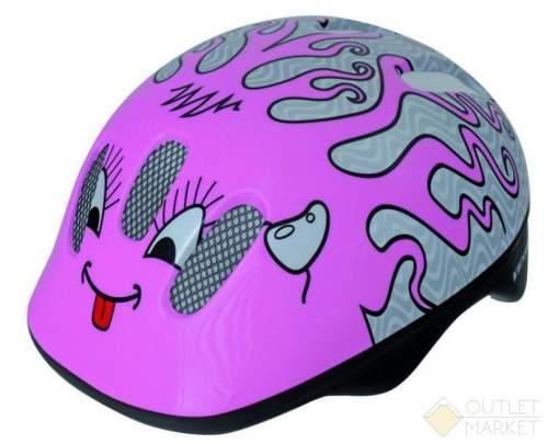 Шлем .детский/подростк. VENTURA с сеточкой 6отв. CURLY/розовый