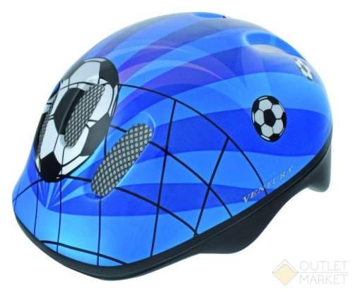 Шлем .детский/подростк. VENTURA с сеточкой 6отв. SOCCER/сине-бело-черн.