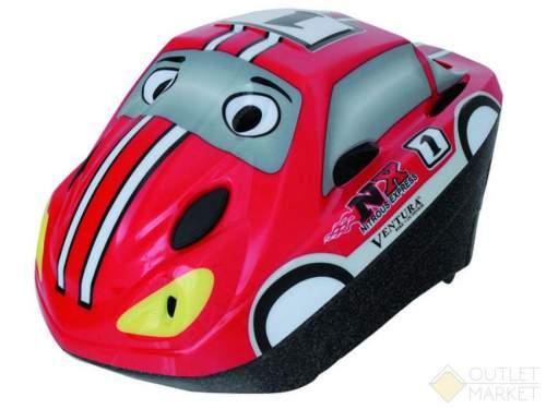 Шлем .детский/подростк. VENTURA 3D сеточ. 6отв. SEMI-INMOLD авто красн-бело-черн.