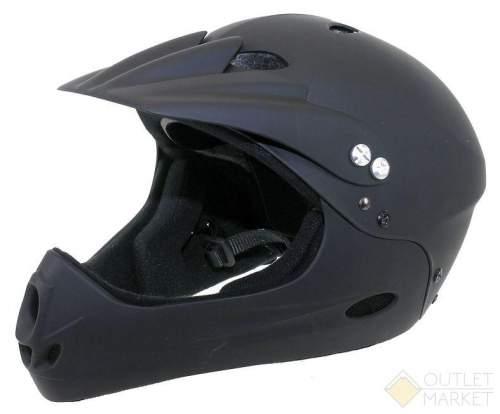 Шлем VENTURA Freeride/DH FullFace ABS-суперпрочн. 17отв. черный