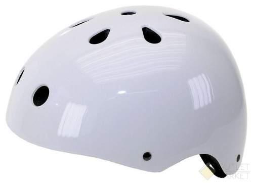 Шлем VENTURA универс/ВМХ/FREESTYLE 11отв. суперпрочн. лакир. белый