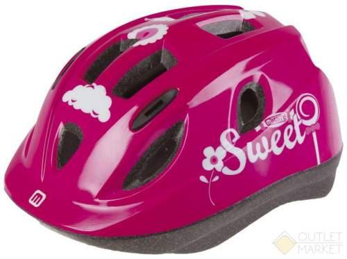 Шлем .детский/подростк. MIGHTY JUNIOR с сеточкой 12отв. INMOLD SWEET/розовый
