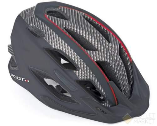 Шлем AUTHOR спорт. 2 козырька Root 141 Blk 21отв. INMOLD/EPS/поликарб. Черный