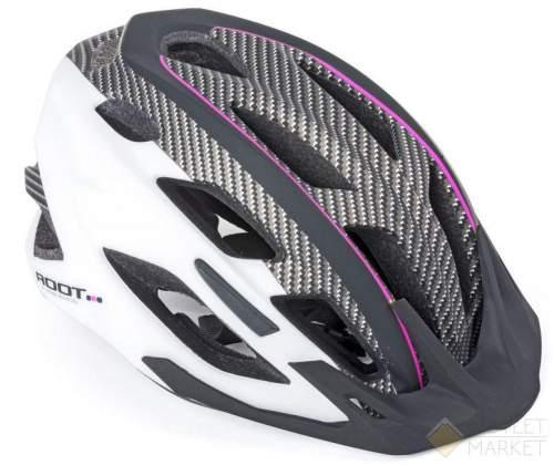 Шлем AUTHOR спорт 2 козыр. Root 161 ASL 21отв INMOLD/EPS/поликарб розов-бело-черн